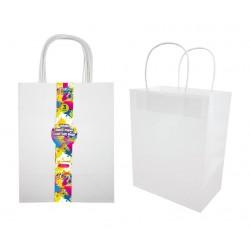 Craft DIY Gift Bags White Series - 20CM x 25.5CM x 12CM - 3PK